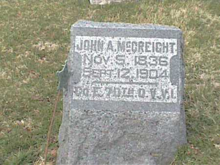 MCCREIGHT, JOHN - Adams County, Ohio | JOHN MCCREIGHT - Ohio Gravestone Photos