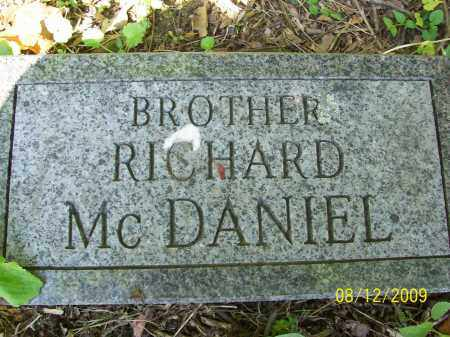MCDANIEL, BROTHER RICHARD - Adams County, Ohio | BROTHER RICHARD MCDANIEL - Ohio Gravestone Photos