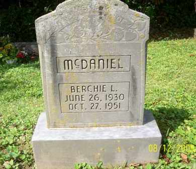 MCDANIEL, BERCHIE L - Adams County, Ohio | BERCHIE L MCDANIEL - Ohio Gravestone Photos
