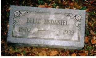 MCDANIEL, BELLE - Adams County, Ohio | BELLE MCDANIEL - Ohio Gravestone Photos