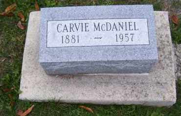 MCDANIEL, CARVIE - Adams County, Ohio | CARVIE MCDANIEL - Ohio Gravestone Photos