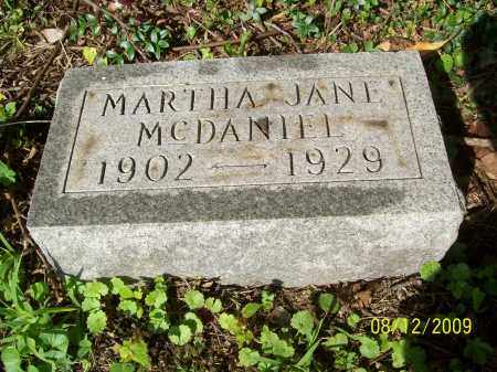 MCDANIEL, MARTHA JANE - Adams County, Ohio | MARTHA JANE MCDANIEL - Ohio Gravestone Photos