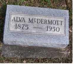 MCDERMOTT, ALVA - Adams County, Ohio | ALVA MCDERMOTT - Ohio Gravestone Photos