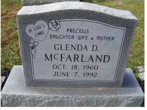 MCFARLAND, GLENDA D. - Adams County, Ohio | GLENDA D. MCFARLAND - Ohio Gravestone Photos