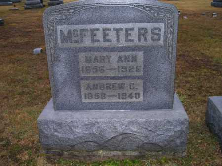 MCFEETERS, MARY ANN - Adams County, Ohio | MARY ANN MCFEETERS - Ohio Gravestone Photos