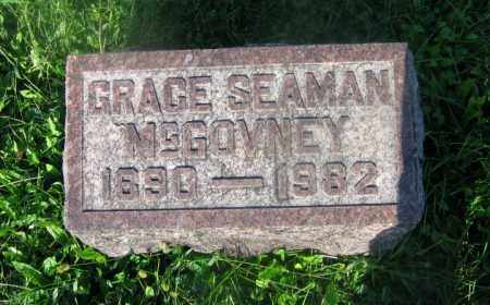 SEAMON MCGOVNEY, GRACE - Adams County, Ohio | GRACE SEAMON MCGOVNEY - Ohio Gravestone Photos