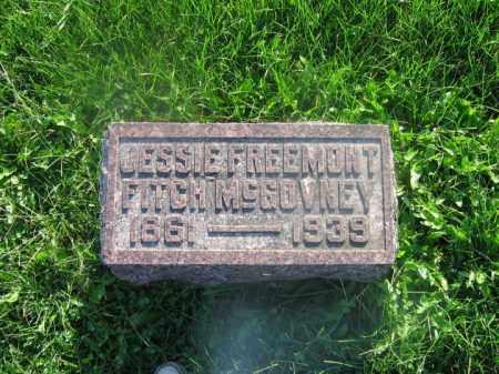 FITCH MCGOVNEY, JESSIE FREMONT - Adams County, Ohio | JESSIE FREMONT FITCH MCGOVNEY - Ohio Gravestone Photos