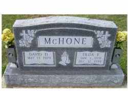 MCHONE, TILDA F. - Adams County, Ohio | TILDA F. MCHONE - Ohio Gravestone Photos