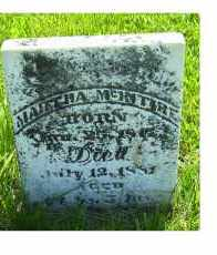 MCINTIRE, MARTHA - Adams County, Ohio | MARTHA MCINTIRE - Ohio Gravestone Photos