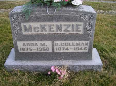 MCKENZIE, D. COLEMAN - Adams County, Ohio | D. COLEMAN MCKENZIE - Ohio Gravestone Photos