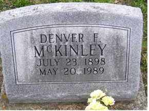 MCKINLEY, DENVER F. - Adams County, Ohio | DENVER F. MCKINLEY - Ohio Gravestone Photos
