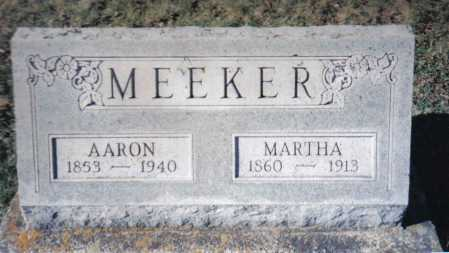 MEEKER, MARTHA - Adams County, Ohio | MARTHA MEEKER - Ohio Gravestone Photos