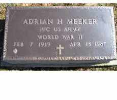 MEEKER, ADRIAN H. - Adams County, Ohio | ADRIAN H. MEEKER - Ohio Gravestone Photos