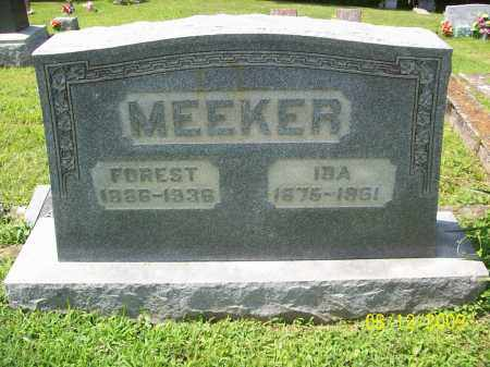 MEEKER, IDA - Adams County, Ohio | IDA MEEKER - Ohio Gravestone Photos