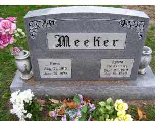 MEEKER, HINES - Adams County, Ohio | HINES MEEKER - Ohio Gravestone Photos