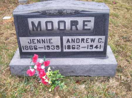 MOORE, JENNIE - Adams County, Ohio | JENNIE MOORE - Ohio Gravestone Photos