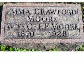 MOORE, EMMA - Adams County, Ohio | EMMA MOORE - Ohio Gravestone Photos