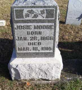 MOORE, JOSIE - Adams County, Ohio | JOSIE MOORE - Ohio Gravestone Photos