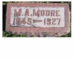 MOORE, M.A. - Adams County, Ohio | M.A. MOORE - Ohio Gravestone Photos