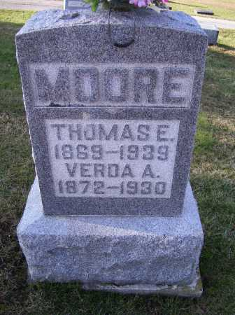 MOORE, THOMAS E. - Adams County, Ohio | THOMAS E. MOORE - Ohio Gravestone Photos