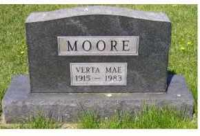 MOORE, VERTA MAE - Adams County, Ohio | VERTA MAE MOORE - Ohio Gravestone Photos