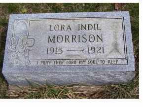 MORRISON, LORA INDIL - Adams County, Ohio | LORA INDIL MORRISON - Ohio Gravestone Photos