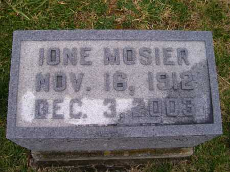 MOSIER, IONE - Adams County, Ohio | IONE MOSIER - Ohio Gravestone Photos