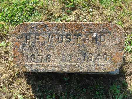 MUSTARD, H.F. - Adams County, Ohio | H.F. MUSTARD - Ohio Gravestone Photos