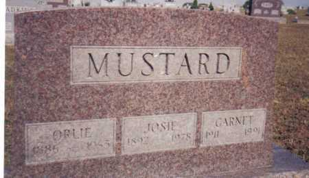 MUSTARD, JOSIE - Adams County, Ohio | JOSIE MUSTARD - Ohio Gravestone Photos