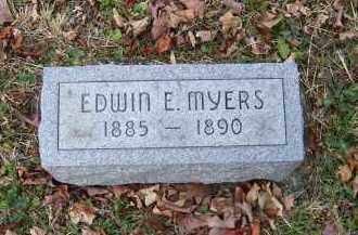 MYERS, EDWIN E. - Adams County, Ohio | EDWIN E. MYERS - Ohio Gravestone Photos