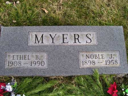 MYERS, ETHEL B. - Adams County, Ohio | ETHEL B. MYERS - Ohio Gravestone Photos
