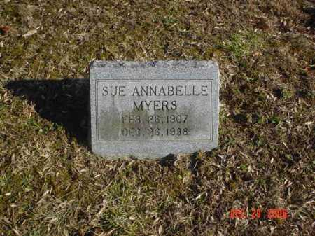 MYERS, SUE ANNABELLE - Adams County, Ohio | SUE ANNABELLE MYERS - Ohio Gravestone Photos