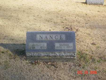 NANCE, WARREN - Adams County, Ohio | WARREN NANCE - Ohio Gravestone Photos