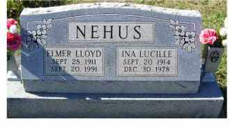 NEHUS, INA LUCILLE - Adams County, Ohio | INA LUCILLE NEHUS - Ohio Gravestone Photos