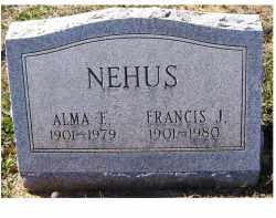 NEHUS, FRANCIS J. - Adams County, Ohio | FRANCIS J. NEHUS - Ohio Gravestone Photos