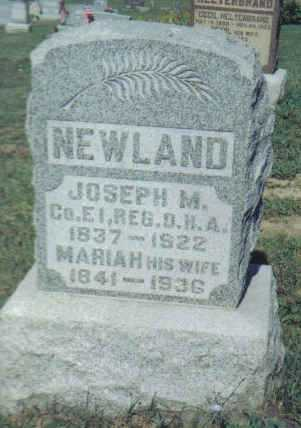 NEWLAND, MARIAH - Adams County, Ohio | MARIAH NEWLAND - Ohio Gravestone Photos
