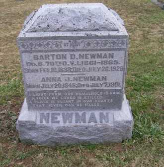 NEWMAN, BARTON D. - Adams County, Ohio | BARTON D. NEWMAN - Ohio Gravestone Photos