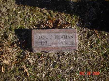 NEWMAN, CECIL C. - Adams County, Ohio | CECIL C. NEWMAN - Ohio Gravestone Photos