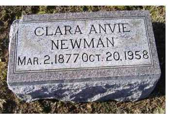 NEWMAN, CLARA ANVIE - Adams County, Ohio | CLARA ANVIE NEWMAN - Ohio Gravestone Photos
