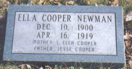 COOPER NEWMAN, ELLA - Adams County, Ohio | ELLA COOPER NEWMAN - Ohio Gravestone Photos