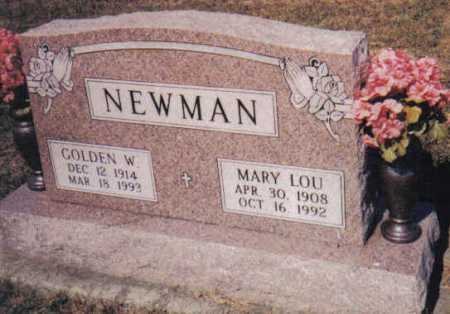 NEWMAN, GOLDEN W. - Adams County, Ohio | GOLDEN W. NEWMAN - Ohio Gravestone Photos