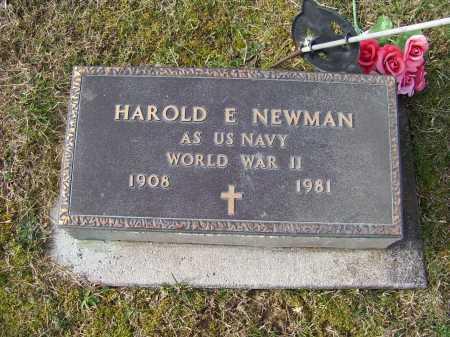 NEWMAN, HAROLD E. - Adams County, Ohio | HAROLD E. NEWMAN - Ohio Gravestone Photos