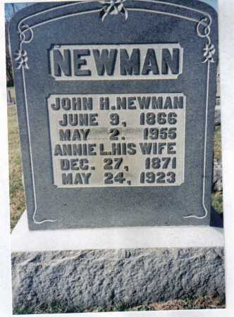 NEWMAN, JOHN H. - Adams County, Ohio | JOHN H. NEWMAN - Ohio Gravestone Photos
