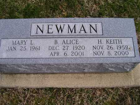 NEWMAN, MARY L. - Adams County, Ohio | MARY L. NEWMAN - Ohio Gravestone Photos
