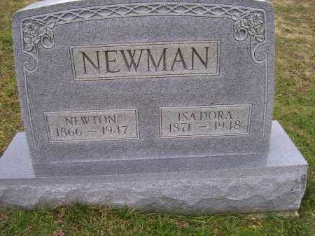 NEWMAN, NEWTON - Adams County, Ohio | NEWTON NEWMAN - Ohio Gravestone Photos