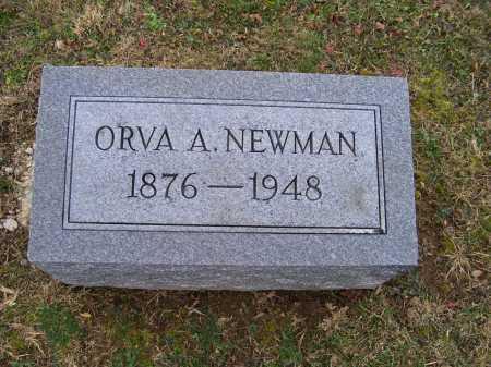 NEWMAN, ORVA A. - Adams County, Ohio | ORVA A. NEWMAN - Ohio Gravestone Photos