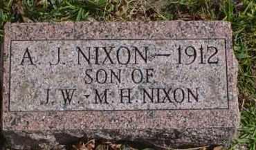 NIXON, A.J. - Adams County, Ohio | A.J. NIXON - Ohio Gravestone Photos