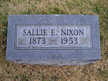 NIXON, SALLIE E. - Adams County, Ohio | SALLIE E. NIXON - Ohio Gravestone Photos