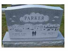 BROWN PARKER, FAYE - Adams County, Ohio | FAYE BROWN PARKER - Ohio Gravestone Photos