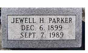 PARKER, JEWELL H. - Adams County, Ohio | JEWELL H. PARKER - Ohio Gravestone Photos